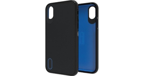 GEAR4 D3O Battersea Apple iPhone X Back Cover Zwart/Blauw