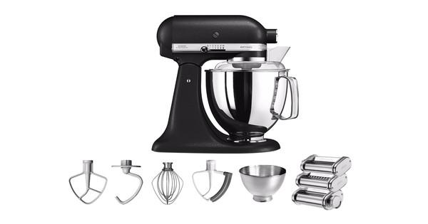 KitchenAid Artisan Mixer 5KSM175PS Zwart + Pastarollerset