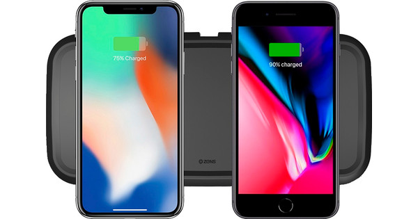 ZENS Dual Fast Wireless Charger 15W Black
