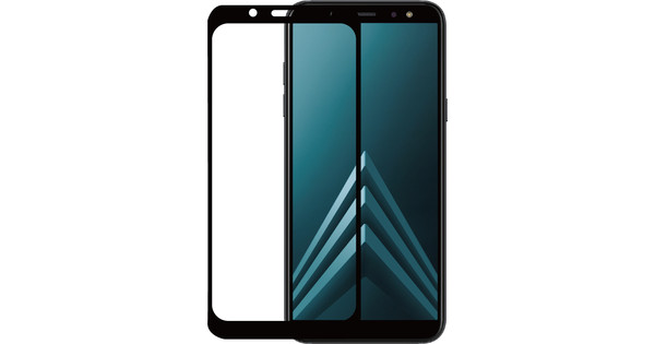 Azuri Samsung Galaxy A6 Plus (2018) Screen Protector Tempered Glass Duo Pack Black