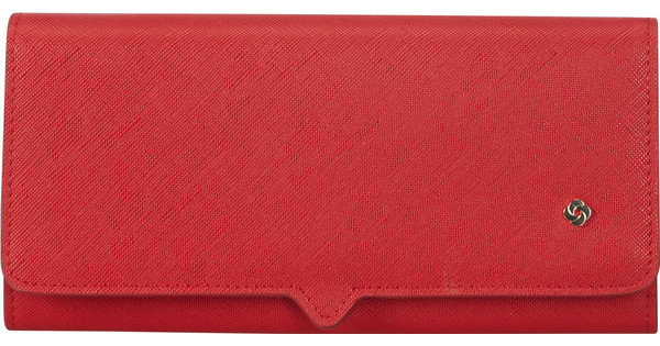 Samsonite Miss Journey SLG Wallet 14CC Coin Scarlet Red