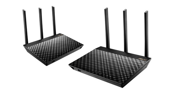 Asus RT-AC67U AiMesh Duo Pack with installation