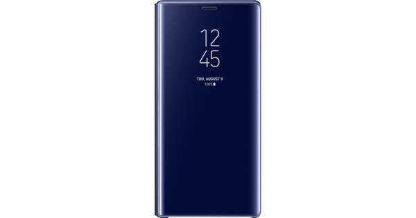 Samsung Galaxy Note 9 Clear View Stand Book Case Blauw
