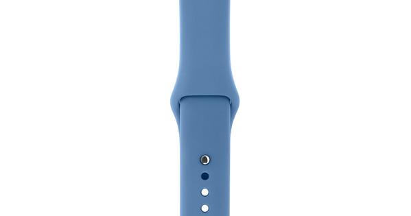 Apple Watch 38mm Siliconen Horlogeband Sport Jeansblauw