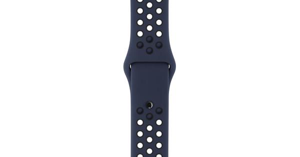 Apple Watch 38mm Siliconen Polsband Nike Sport Obsidiaan/Zwart
