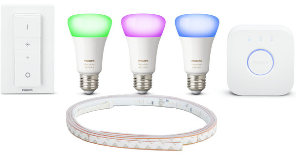 Hue Lampen Aanbieding : Philips hue color starter kit meter lightstrip coolblue