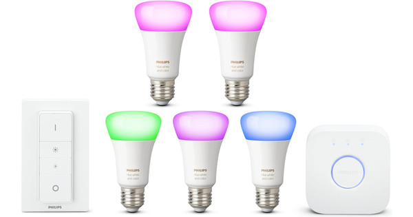 Philips Hue White & Color Starter Kit + E27 Duo Pack
