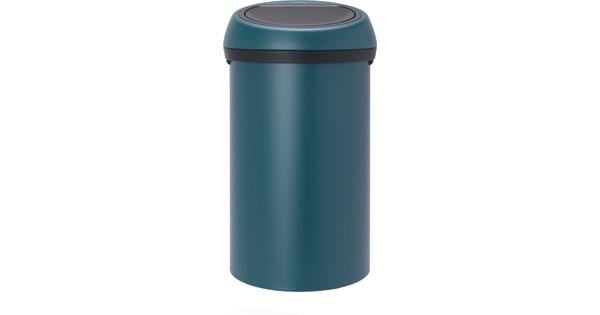 Brabantia 60 Liter.Brabantia Touch Bin 60 Liters Mineral Reflective Blue