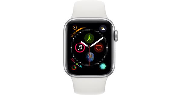 Apple Watch Series 4 40mm Zilver Aluminium/Witte Sportband