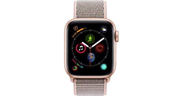 Apple Watch Series 4 40mm Goud Aluminium/Roze Nylon Sportband