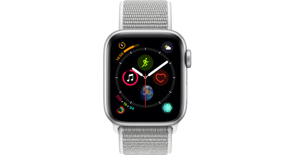 Apple Watch Series 4 40mm Zilver Aluminium/Grijze Nylon Sportband