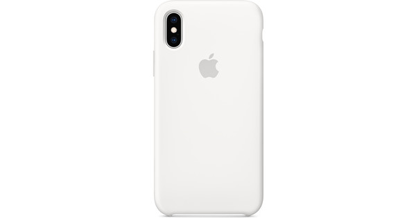 on sale 992dd c845e Apple iPhone Xs Silicone Back Cover White