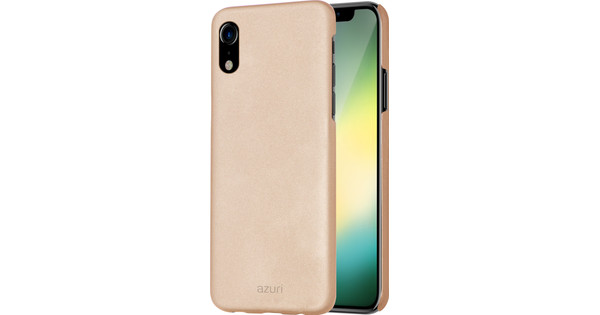 Azuri Metallic Soft Touch Apple iPhone Xr Back Cover Gold