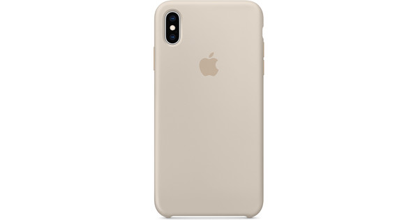buy popular 7b1d2 6f996 Apple iPhone Xs Max Silicone Back Cover Stone