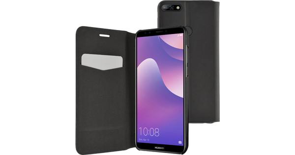 Azuri Booklet Ultra Thin Huawei Y7 (2018) Book Case Black