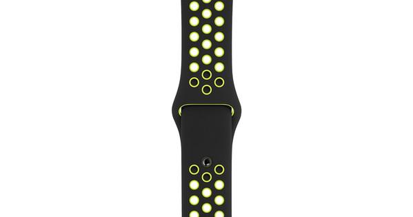 Apple Watch 40mm Siliconen Horlogeband Nike Sport Zwart/Volt