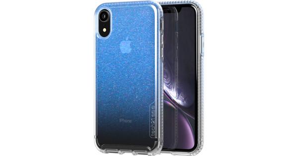 Tech21 Pure Shimmer iPhone Xr Back Cover Iridescent Blue