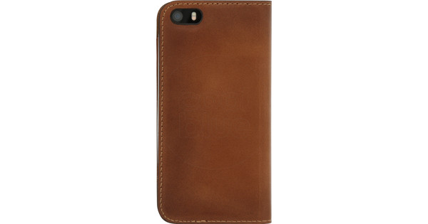 Senza Desire Leather Apple iPhone 5/5S/SE Book Case Brown
