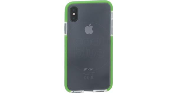 Azuri Flexible Bumper Apple iPhone X Back Cover Green