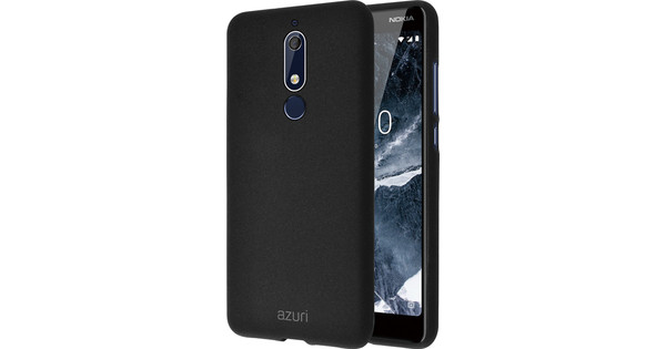 Azuri Flexible Sand Nokia 5.1 Back Cover Black