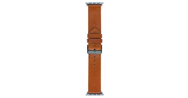 DBramante1928 Copenhagen Apple Watch 42mm Leren Horlogeband Donkerbruin/Zwart
