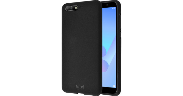 Azuri Flexible Sand Huawei Y6 (2018) Back Cover Black
