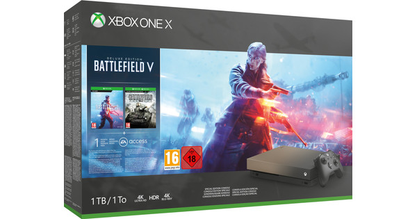 Microsoft Xbox One X 1 TB Battlefield V Gold Rush Special Edition