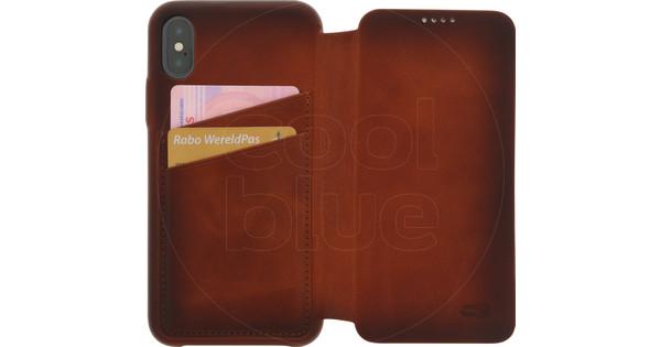 Senza Desire Skinny Leather CS Apple iPhone X Book Case Brown