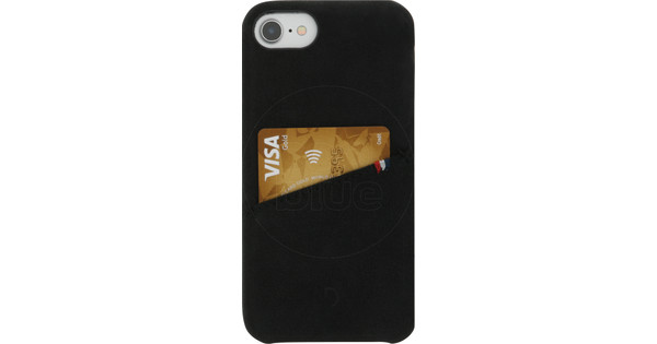 Decoded Leather iPhone 8/7/6s/6 Back Cover Zwart