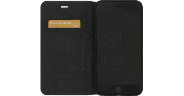 adidas Originals Booklet Apple iPhone 6 Plus/6S Plus/7 Plus/8 Plus Book Case Zwart