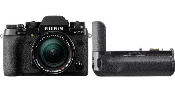Fujifilm X-T2 Zwart + 18-55mm + VPB-XT2 Vertical Power Booster Grip