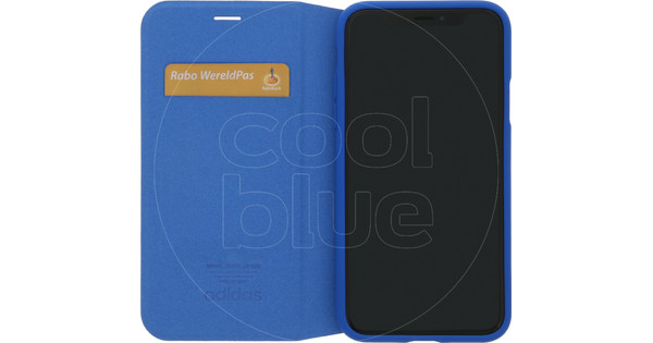 adidas Originals Booklet iPhone X/Xs Book Case Blauw/Wit