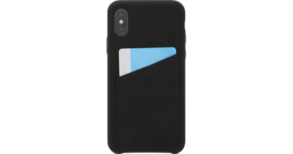 competitive price bf4ef 00974 Mujjo Full Leather Wallet Apple iPhone X Back Cover Black