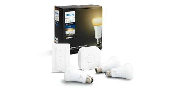 Philips Hue Starterspakket.Philips Hue White Ambiance Starter Pack With Dimmer