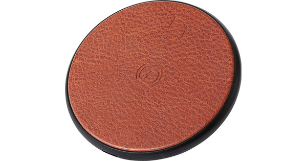 Decoded Leather Wireless Fast Charger Brown