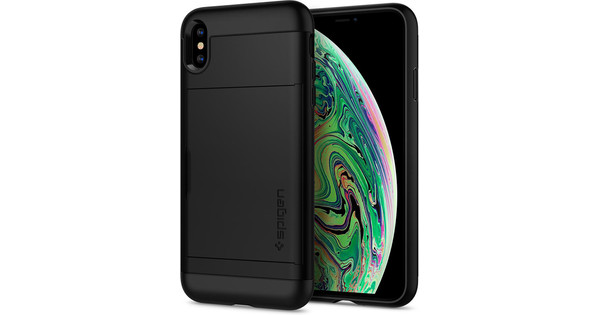 Spigen Slim Armor CS iPhone Xs Max Back Cover Black