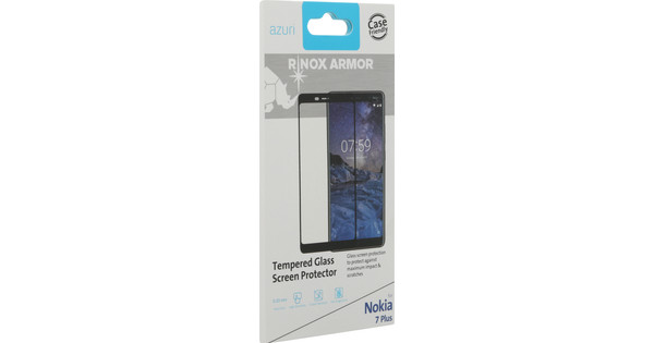Azuri Tempered Glass Nokia 7 Plus Screen Protector Glass Black