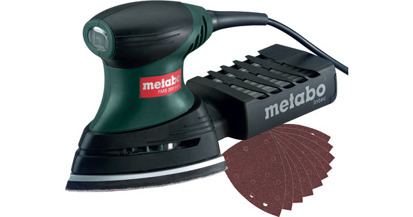 Metabo FMS 200 Intec + Metabo FMS sandpaper set (10x)