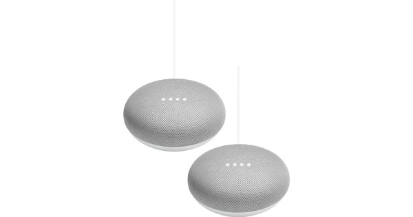 Google Home Mini Wit Duo Pack