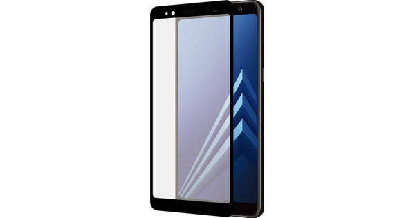 Azuri Tempered Glass Samsung Galaxy A8 (2018) Screen Protector Glass Duo Pack Black
