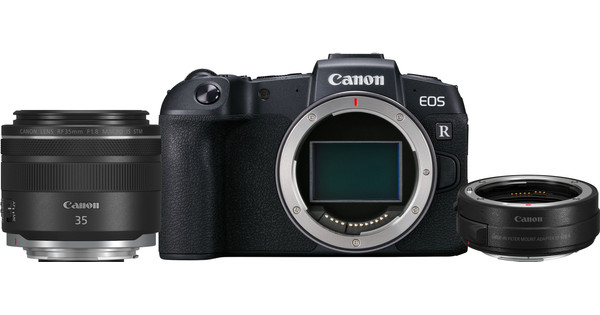 Canon EOS RP Body + EF-EOS R Adapter + 35mm f/1.8 IS STM Macro