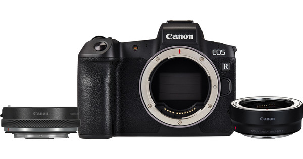 Canon EOS R + EF-EOS R adapter + Control Ring Mount Adapter