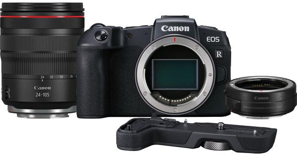 Canon EOS RP + EF-EOS R Adapter + RF 24-105mm f/4L IS USM + EOS RP Grip (EG-E1)