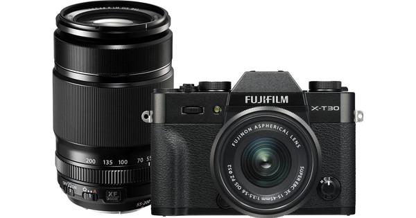 FujiFilm X-T30 Zwart + XC 15-45mm f/3.5-5.6 OIS PZ + 55-200mm f/3.5-4.8 R LM OIS