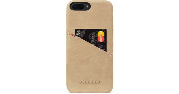Decoded Leather Back Cover for Apple iPhone 7 Plus / 8 Plus Beige
