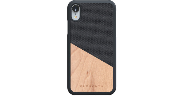 Nordic Elements Hell Apple iPhone Xr Back Cover Gray / Wood