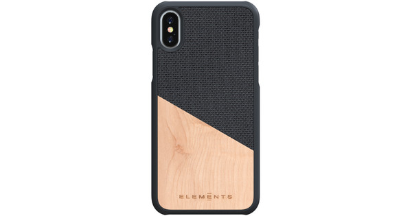 Nordic Elements Hell Apple iPhone X / Xs Back Cover Gray / Wood