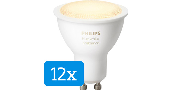 Philips Hue White Ambiance GU10 12-pack