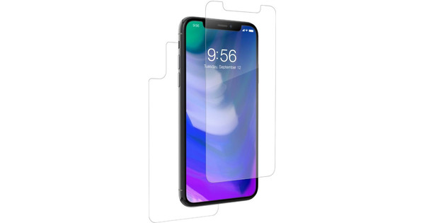 InvisibleShield HD Dry Full Body Apple iPhone X/Xs Screen Protector Front + Rear Plastic
