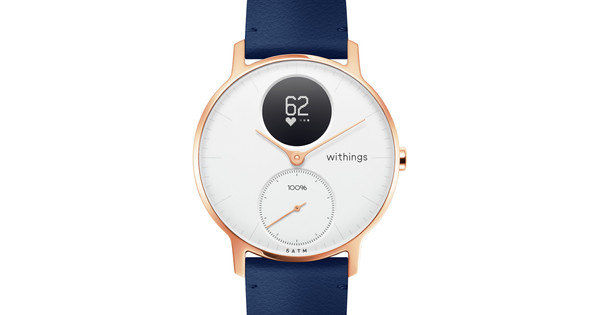 Withings Steel HR (36mm) Rose Gold Blue Leather